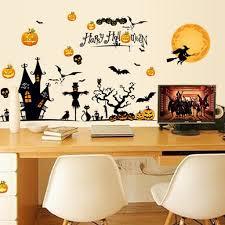 halloween theme wall decor stickers diy vinyl wall art for bedroom halloween theme wall decor stickers diy vinyl wall art