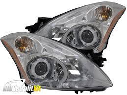 nissan headlights 2010 2012 nissan altima sedan hid bi xenon projector headlights