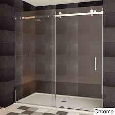this lesscare ultra b semi frameless shower door is made of high