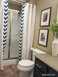 shower curtain ideas for small bathroom image of cool shower