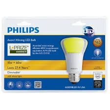 philips endura led 10w a19 dimmable bulb l prize winner u2013 bulbamerica