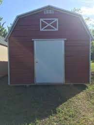 Metal Siding For Barns 1 Outback Barn 12 X 18 Deluxe Barn Red Metal Siding With White