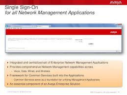 avaya network management overview