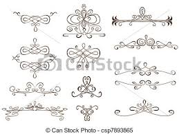 clipart vector of text ornaments set of different of text