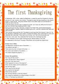 thanksgiving worksheet free esl printable worksheets made