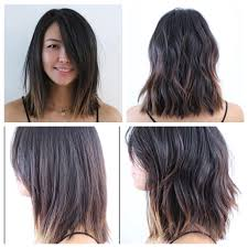 soft under cut hair mid length hair blunt soft undercut soft waves lived in hair