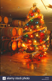 usa california napa valley st helena a christmas tree in the