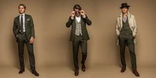 the gentleman in the olive suit articles of style šedivé