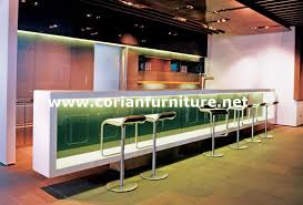 seamless solid surface made hotel cafe and restaurant bar counter