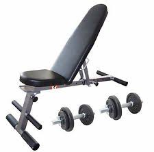 Weight Bench With Barbell Set Bodyrip Folding Weight Bench And 80kg Barbell Set Ebay