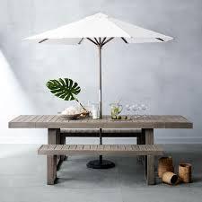 portside expandable dining table set weathered gray west elm