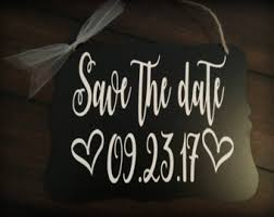 save the date signs save the date dog etsy