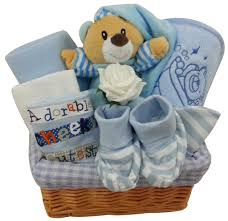 newborn gift baskets blue bedtime newborn baby boy gift basket