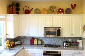 Decorative Ceramic Plates For Decorating Above Kitchen Cabinets - Decor for top of kitchen cabinets