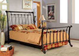 Metal Sleigh Bed Celtic Metal Sleigh Bed King And Beds Metal Sleigh Bed