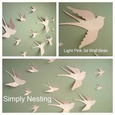 Nursery Bird Decor 3d Paper Wall Birds 3d Wall Nursery Wall Whimsical