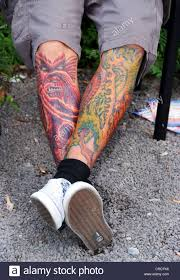 tattoos on legs stock photo royalty free image 48833546 alamy