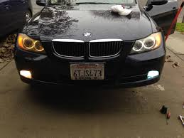 bmw e90 headlights angel eye and hid fogs upgrade on my e90 mic bmw