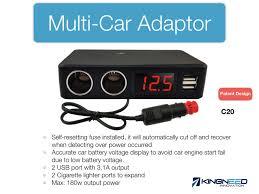 Multi Socket Car Charger With Usb Port Vehicle Female Cigarette Lighter 180w 12v 24v Socket Adapter With