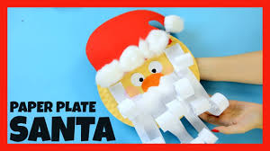 santa paper plate craft for kids fun christmas crafts for kids