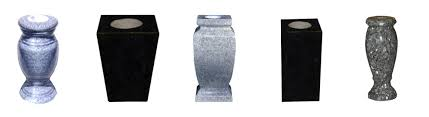 cemetery vase granite vases mike s laser etching sartin memorials