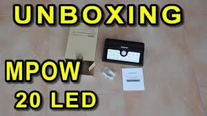 mpow solar light instructions unboxing led solarleuchte mpow 20 led solar motion sensor light