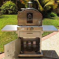 Outdoor Pizza Oven Pacific Living Outdoor Propane Stainless Steel Pizza Oven On Cart