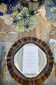 Blue Table Menu Elegant Wedding Magazine Blog Photos Bridal Inspiration