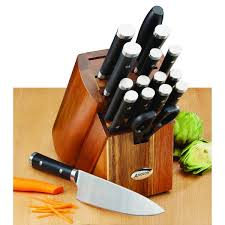 anolon kitchen knives anolon cutlery 17 black japanese stainless steel knife block