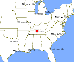 nashville on map nashville tennessee map usa