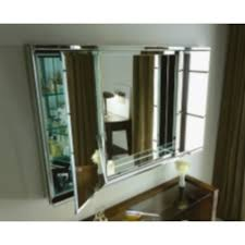 48 inch medicine cabinet recessed top contemporary tri view mirrored medicine cabinet intended for
