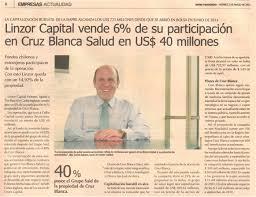 linzor capital vende 6 de su participación en cruz blanca salud