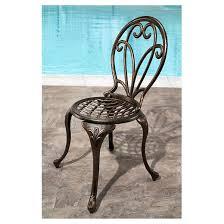 Copper Bistro Chair Nicola 3pc Metal Patio Bistro Set Copper Abbyson Living Target