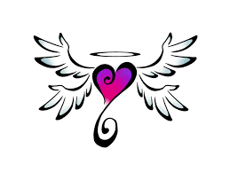 origami heart with wings logo template vector download heart with