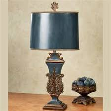 Blue Table Lamp Traditional Table Lamps Touch Of Class
