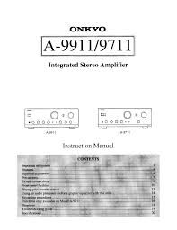 download free pdf for onkyo a 9711 amp manual