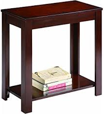 amazon com dhp rosewood tall end table simple design multi