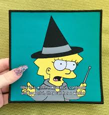 lisa simpson witch 6 back patch quote witchy woman