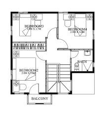 double story house plan floor area 93 square meters myhomemyzone com