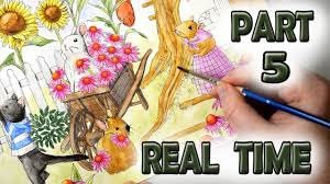 relaxing painting videos relaxing painting videos in real time with watercolor pencils menuet