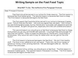 sample practice topic u2014fast food ppt download