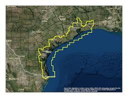 Texas Coast Map Texas Unleashed Legend Cartography
