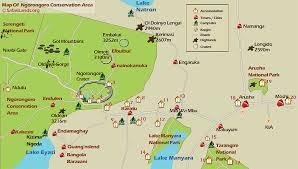 Tanzania Map Safarilands Org Tanzania The Ngorongoro Conservation Area