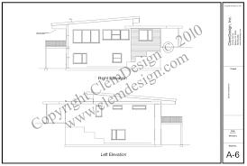 side elevation side elevation modern house plans design mid century modern