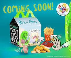 coming soon to mcdonalds u0027 happy meals 2034 rickandmorty