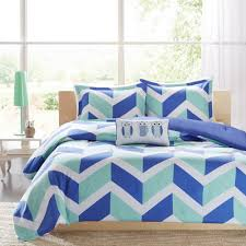 Teen Comforter Set Full Queen by Beautiful Chevron Owl Blue Girls Teen 4 Pc Comforter Set Full