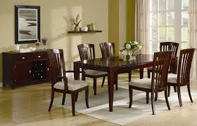 miraval 5 piece cherry brown round dining set contemporary dining