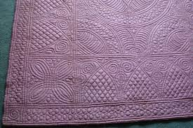 Beautiful Purple Motifs Welsh Quilts The Difference Between Welsh And Durham Quilts