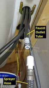 kitchen faucet hoses delta kitchen faucet water line connections handymanhowto com