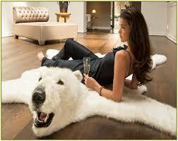 real bear skin rugs med art home design posters